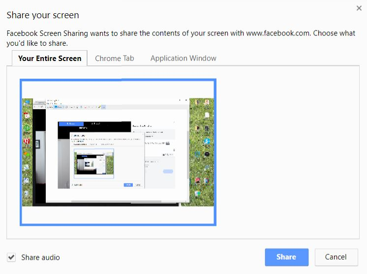 How to share your screen on Facebook Live with no third