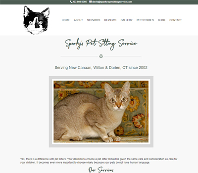 pet sitter web design
