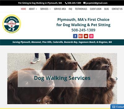 website for pet sitter / dog walker in Plymouth