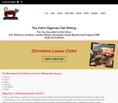 website for professional pet sitter
