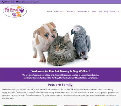 website for pet sitter