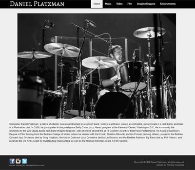website for musician / composer