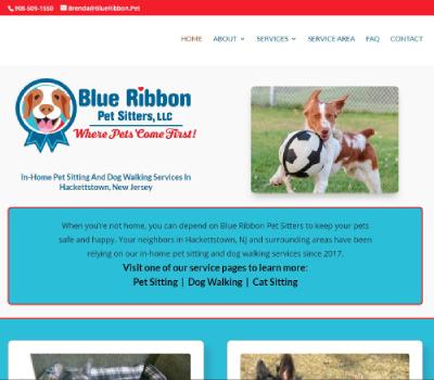website for Hackettstown pet sitter, dog walker