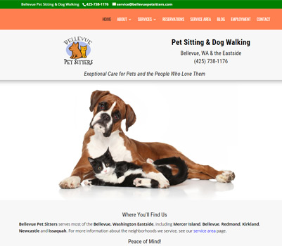 dog groomer website design