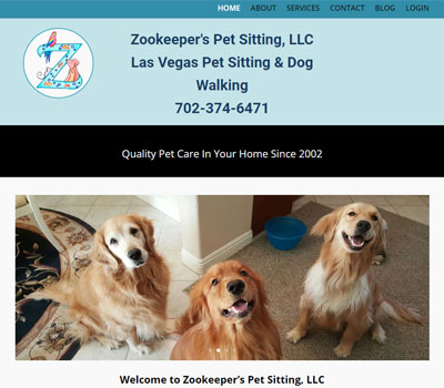 web design for dog boarding, daycare, and pet sitting business
