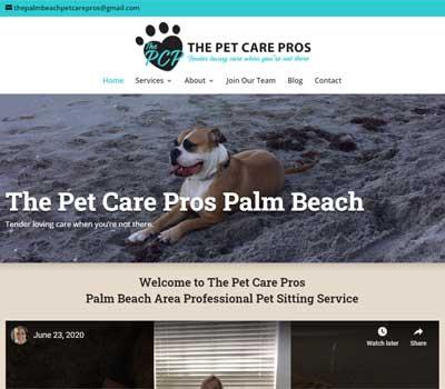 pet business website design